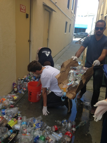 Sorting Used Plastic Bottles