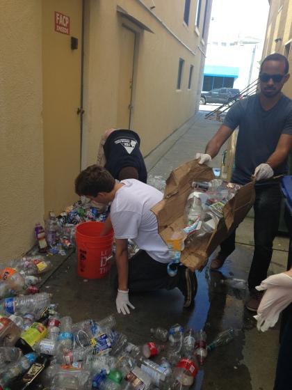Sorting Used Plastic Bottles