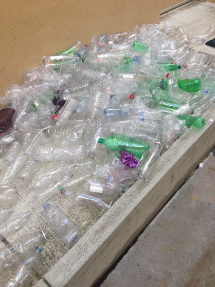 Plastic Bottles Ready for the Installation